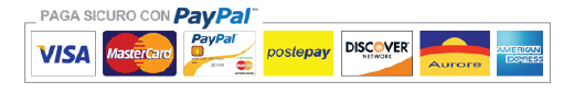 Pagamenti accettati: visa - mastercard - paypal - postpay - american express - aurora